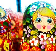 Traditional Russian Matrushka Nesting Puzzle Dolls by NeonAbstracts