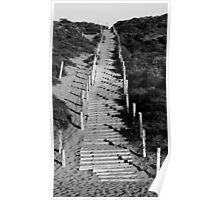 Beach Staircase in Lincoln Park, San Francisco Poster