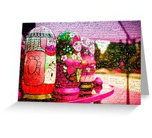 Traditional Russian Matryoshka Nesting Puzzle Dolls Purple Greeting Card