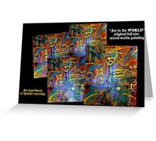 Joy to the WORLD Original FULL Painting Photo Greeting Card