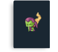 Chibi Green Goblin Canvas Print
