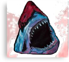 12th Doctor Galaxy Shark T-Shirt Canvas Print