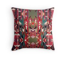 Digital Glitch Throw Pillow