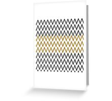 Elegant black gold faux glitter chevron zigzag Greeting Card