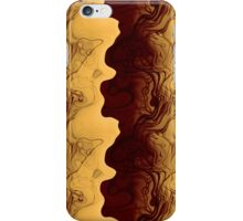Gold Waves With Red iPhone Case/Skin