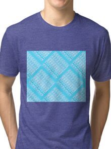 Turquoise Links by Jan Marvin Tri-blend T-Shirt