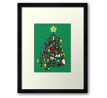 Link's Real Inventory (Christmas Edition) Framed Print