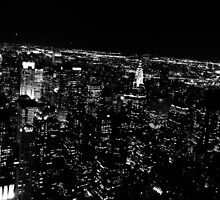 Light Dots At Night by Winterrr