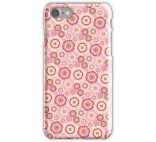 Chic pink red trendy retro stylish floral pattern iPhone Case/Skin