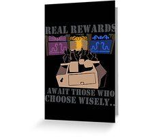 Real Rewards Greeting Card