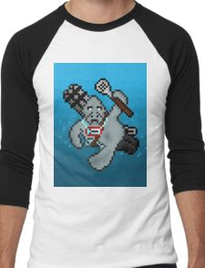 Urf, The Pixel Manatee Men's Baseball ¾ T-Shirt