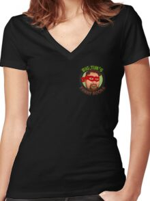Big Tim's Funny Books (Pocket Logo) Women's Fitted V-Neck T-Shirt