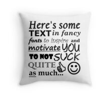 """A Perfect Gift for """"Friendly"""" Rivals (Black Text) Throw Pillow"""