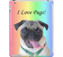 Cute I Love Pugs iPhone, iPod or iPad Case iPad Case/Skin
