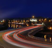 LIGHT TRAIL CURVES by Rob  Toombs
