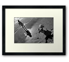 Kids by the sea Framed Print