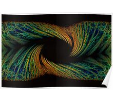Neon Forest Swirl Poster