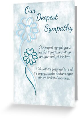 greeting cards tags - Deepest Sympathy Card