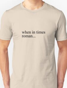 times roman black T-Shirt