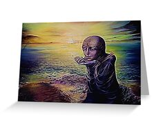 Moon Child on an Alien Planet Greeting Card