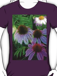 Kathie McCurdy Purple Cone Flowers Abstract T-Shirt
