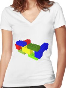 Duplo Specs Women's Fitted V-Neck T-Shirt