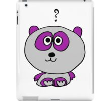 iPanda (purple) iPad Case/Skin