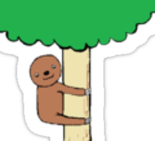 Original Tree Hugger Sloth Sticker