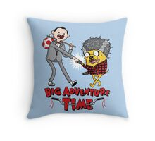 Big Adventure Time Throw Pillow
