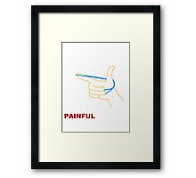 World's Most Painful Framed Print