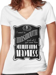 I Went To Innsmouth (For Light Colors) Women's Fitted V-Neck T-Shirt