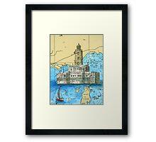 Lansing Shoals Lighthouse MI Chart Cathy Peek Framed Print