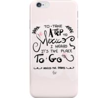 Mexico - The Staves (Handlettering) iPhone Case/Skin