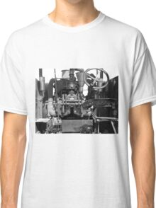 Tractor in Black & White Classic T-Shirt