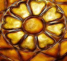 Kathie McCurdy Hammered Metal Flower by Kathie McCurdy