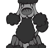 Poodle (Black) by Angry Squirrel Studio