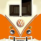 New Orange Volkswagen VW with chrome logo iphone 4 4s, iPhone 3Gs, iPod Touch 4g case by www. pointsalestore.com