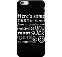 "A Perfect Gift for ""Friendly"" Rivals (White Text) iPhone Case/Skin"