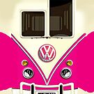 Pink Volkswagen VW with chrome logo iphone 4 4s, iPhone 3Gs, iPod Touch 4g case by www. pointsalestore.com