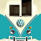 Blue Volkswagen VW Summer dreams iphone 5, iphone 4 4s, iPhone 3Gs, iPod Touch 4g case, Available for T-Shirt man, woman and Kids by pointsalestore Corps