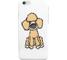 Toy Poodle (Peach) iPhone Case/Skin