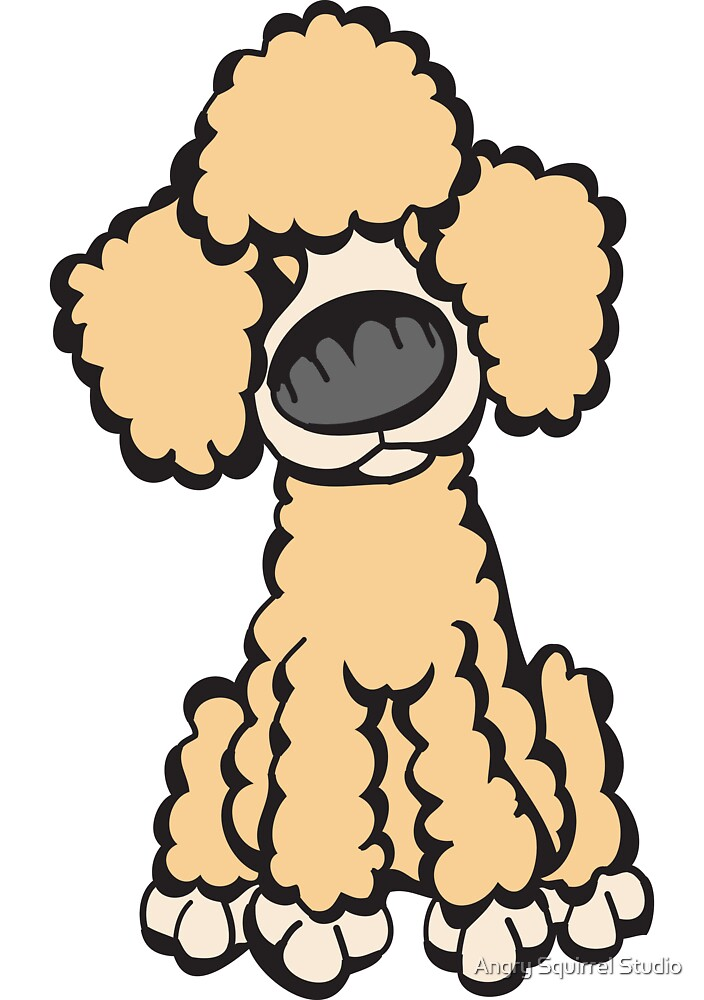 Toy Poodle (Peach) by Angry Squirrel Studio