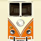 Orange Volkswagen VW cartoons iphone 5, iphone 4 4s, iPhone 3Gs, iPod Touch 4g case by Pointsale store.com