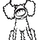 Toy Poodle - Outline by Angry Squirrel Studio