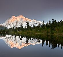 Mount Shuksan in the Fall by Michael Russell