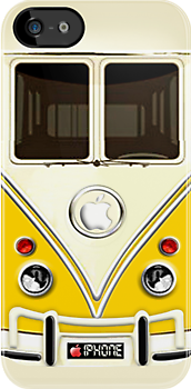 Yellow Volkswagen VW cartoons iphone 5, iphone 4 4s, iPhone 3Gs, iPod Touch 4g case by pointsalestore Corps