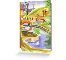 Pools in Brigadoon Greeting Card