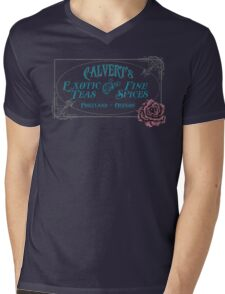 Calvert's Exotic Teas and Fine Spices Mens V-Neck T-Shirt