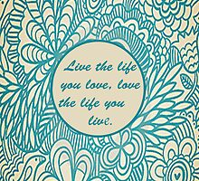 Love Life Floral Pattern by alyssawright