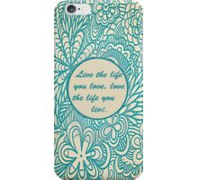 Love Life Floral Pattern iPhone Case/Skin